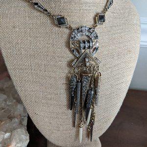 Amulet Pendant Statement Necklace